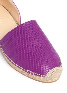 purp espadrilles | Jimmy choo 'dreya' Suede Embossed Leather Combo D'orsay Espadrilles in ...
