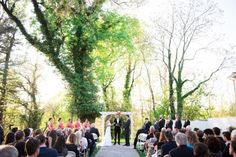Overhills Mansion Outdoor Wedding Ceremony May 2015