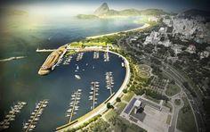 Projeto da De Fournier & Associados . Projeto Marina da Glória. Imagem da PVID