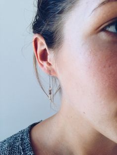 Image of Clutched Citrine Threader Earring