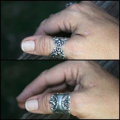 Silver adjustable Ring Under 20 dollars Wear by RADgiftsAndJewelry, $18.00