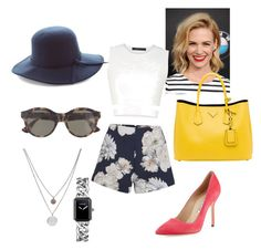 A fashion look from June 2015 featuring white tank top, high-waisted shorts and Manolo Blahnik. Browse and shop related looks. Tailored Shorts, Tied Shirt, Finders Keepers, Manolo Blahnik, Daniel Wellington, Prada, Chanel, Fashion Looks, Shoe Bag