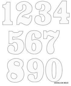 1000 images about plantillas numeros on pinterest for Moldes para pavimentos de hormigon