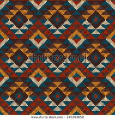 Find Traditional Tribal Aztec Pattern Seamless Knitting stock images in HD and millions of other royalty-free stock photos, illustrations and vectors in the Shutterstock collection. Tapestry Crochet Patterns, Weaving Patterns, Knitting Charts, Knitting Patterns, Mochila Crochet, Tapestry Bag, 3d Origami, Crochet Purses, Crochet Chart