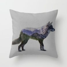 The Rocky Mountain Gray … Throw Pillow