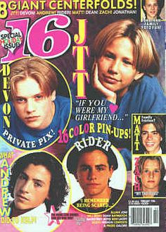90s heart throbs. Jonathan Taylor Thomas, sigh...