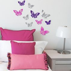 Xhilaration® 3D Butterflies with Color Mirror