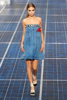 Chanel gets cheeky with classic jeans for spring 2013