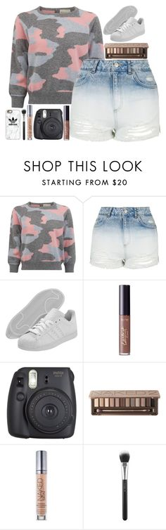"""""""school-winter"""" by lipsy-look ❤ liked on Polyvore featuring Topshop, adidas Originals, tarte, Fujifilm, Urban Decay, MAC Cosmetics and Casetify"""