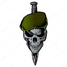 Find Skull Beret stock images in HD and millions of other royalty-free stock photos, illustrations and vectors in the Shutterstock collection. Military Drawings, Military Tattoos, New Tattoos, Tatoos, Tattoo No Peito, Karma Tattoo, Indian Army Wallpapers, Green Beret, Graffiti Lettering