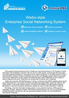 Crowdroid for Business is a Weibo style enterprise social networking system.  http://www.anhuioss.com/en/crowdroidbiz/