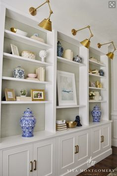 Bookshelves, lighting
