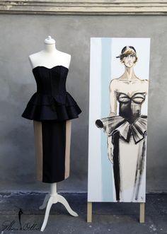 Marie Ollie Fashion Illustration by Arthur Dinu