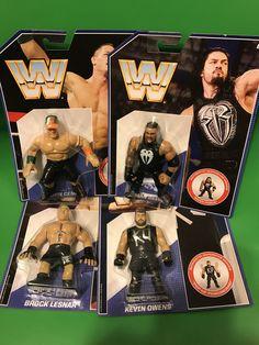 Mattel Retro WWE Figures Set of 4 John Cena, Brock Lesner, Roman Reigns, Kevin Owens