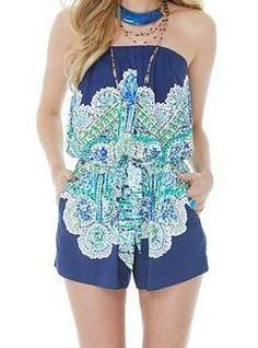 Lilly Pulitzer Resort '13- Colleen Romper in Escape Artist