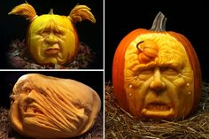 "Artist Ray Villafane has garnered much acclaim for his intricate pumpkin carvings. His works of art will reportedly be on display at supermodel Heidi Klum's Las Vegas Halloween party. Villafane's secret is that he carves a pumpkin ""like it is a piece of clay as opposed to a large vegetable."" The Daily Beast has rounded up photos of Villafane's best pumpkin carvings in this gallery.  Click through the image to see the rest!"