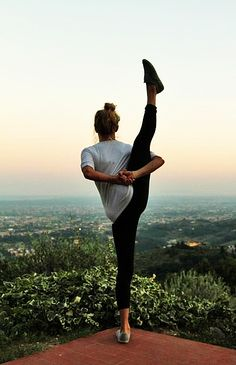 yoga on top of the world - flexible