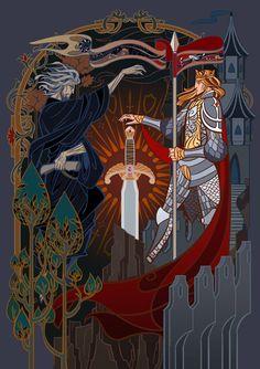chinese version,published in 2017 cover for Le Morte d'Arthur Tolkien, Roi Arthur, Arte Robot, Tatoo Art, Fairytale Art, Book Cover Art, Book Girl, Book Illustration, Illustrations