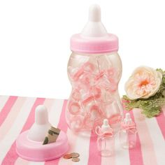 Looking for Giant Pink Baby Bottle Bank With 16 Small Bottle Favors for your next party? Find Birthday in a Box for the most popular and party accessories with bargain prices.