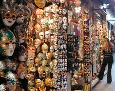 There are a ton of stores like this in Venice. Venice is super famous for its masks...