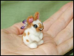 Needle felted Fairy Bunny by ~amber-rose-creations on deviantART