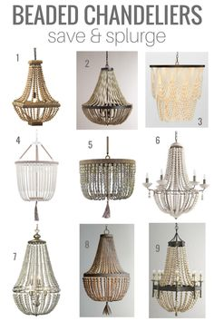 Amelia Wood Bead Chandelier Have Your Eye On Beaded Chandeliers I 39 Ve Rounded Up Some Of My Favourite Save And Splurge Options Come Check Out Which One I Picked For Our Dining Room Wood Bead Chandelier, Empire Chandelier, Coastal Chandelier, Chandelier Ideas, Pottery Barn Chandelier, White Chandelier, Dining Room Lighting, Home Lighting, Dining Room Chandeliers