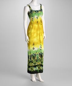 Take a look at this Green Abstract Maxi Dress by Ivy Wear on #zulily today!