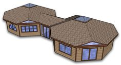 Solargon - The Passive Solar Smart Cabin (Official Website) - Solargon Passive Solar Designs from ICS Eco-SIPs Round House Plans, House Floor Plans, Hexagon House, Circle House, African House, Structural Insulated Panels, Floor Plan Drawing, Village House Design, Model House Plan