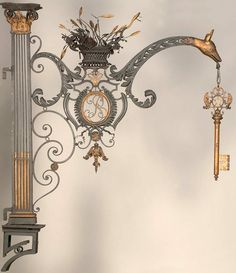 Details, details... Paris Locksmith - sign ca. 1760-1790, photo via Musée Le Secq des Tournelles.