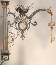Details, details... Paris Locksmith - sign ca. 1760-1790, photo via Musée Le Secq des Tournelles.