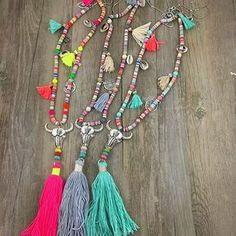 Bohemian Style Long Tassel Necklace w/ Cow Skull Pendant Skull Necklace, Tribal Necklace, Diy Necklace, Tassel Necklace, Hippie Jewelry, Tribal Jewelry, Colar Tribal, Cow Skull, Skull Pendant