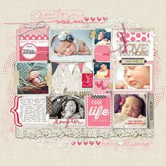 layered style #baby #projectlife from Amy Mallory at DesignerDigitals.com