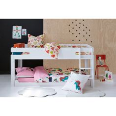 Dydus Cabin Bed with Base LA REDOUTE INTERIEURS This mid-height cabin bed is practical, clever and has designer good looks too. With a ladder, below-bed storage space and bedside table. Kids Bedroom Storage, Under Bed Storage, Kids Storage, Storage Spaces, Childrens Bunk Beds, Kabine, Guest Bed, New Beds, Awesome Bedrooms