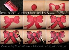 how to face paint a bow