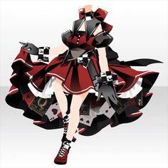 上半身/インナー クイーンフィティッシュテールドレスAレッド Manga Clothes, Drawing Anime Clothes, Dress Drawing, Chibi, Komplette Outfits, Anime Outfits, Fashion Design Drawings, Fashion Sketches, Character Inspiration
