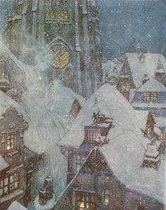 The Snow Queen by Edmond Dulac via At night - my little Lamp - and Book