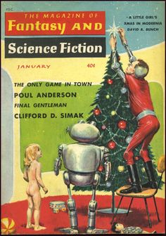atomic action: 1950s Chirstmas Galaxy Science Fiction
