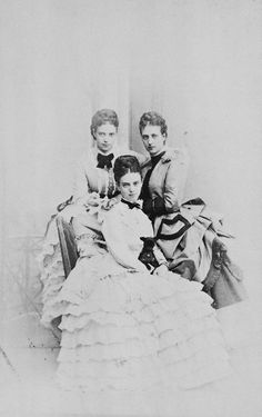 Princess Thyra of Denmark, sister of Queen Alexandra and the Empress Maria Feodorovna and later Duchess of Cumberland and Crown Princess of Hanover, was born in Copenhagen on this day in 1853. Throughout their lives, the three lovely Danish princesses, who were all very close, were photographed together so I picked four such photos to share with you today.