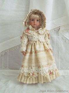 13-Effner-Little-Darling-BJD-fashion-ivory-Regency-style-OOAK-handmade-by-JEC. SOLD for $177.53 on 8/10/14.
