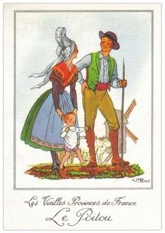 Hello all, Today I will attempt to give an overview of the costumes of France. France was divided into traditional provinces before . Illustration Française, Costume Français, French Costume, French People, Spanish Fashion, Cultural, Vintage Love, Folklore, Traditional Outfits
