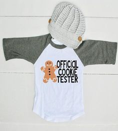 Official Cookie Tester Shirt for Boys - Funny Boy Christmas Shirt - Christmas Cookie Tester Shirt - Funny Toddler Christmas Shirt for Boys