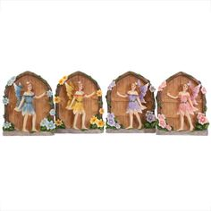 Mini Wood effect Fairy Doors in 4 colours ! These lovely mini fairy doors are made from resin and beautifully painted. Available in 4 bright colours. Wholesale Boxes, Garden Figurines, Fairy Doors, Fairy Land, Mythical Creatures, Christmas Holidays, Pixie, Miniatures, Colours