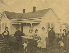 """Andrew, Claude, Mary, Martha, Ida """"Tumy"""", George Truman Cole, Warren, Lena and little Brooksie in the front  Lena is my 2nd Cousin 2x Removed   George Truman is my  1st cousin 3x removed"""