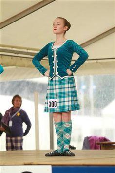 Kilt with turquoise jacket #scott #turquoise #tartan