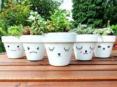 Posca pen plant pots