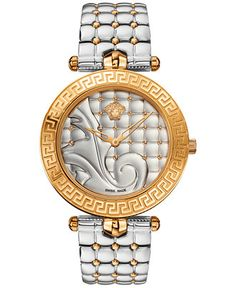 Versace Women's Swiss Vanitas Two-Tone Ion-Plated Stainless Steel Bracelet Watch