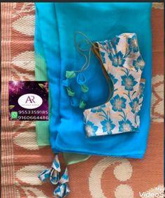 Elegant Designer Fancy Sari Blouse Designs - The Handmade Crafts Simple Blouse Designs, Saree Blouse Neck Designs, Stylish Blouse Design, Bridal Blouse Designs, Tie Blouse, Saree Tassels Designs, Designer Blouse Patterns, Elegant, Handmade Crafts
