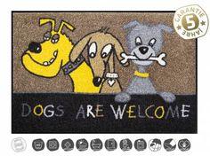 Tierische FußmattenDesigner Fußmatte: Dogs are welcome