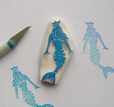 Mermaid rubber stamp https://www.etsy.com/listing/511942852/mermaid-rubber-stamp-mermaid-stamp