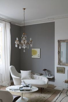 Farrow & Ball Worsted - a deep gray with no cold tones